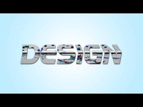 How to creat 3D Text Effect - Photoshop Tutorial thumbnail