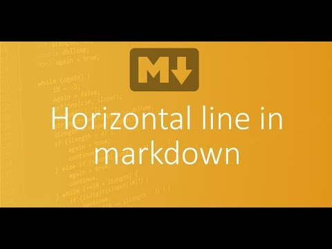 Part 9 - Horizontal line or rule in markdown