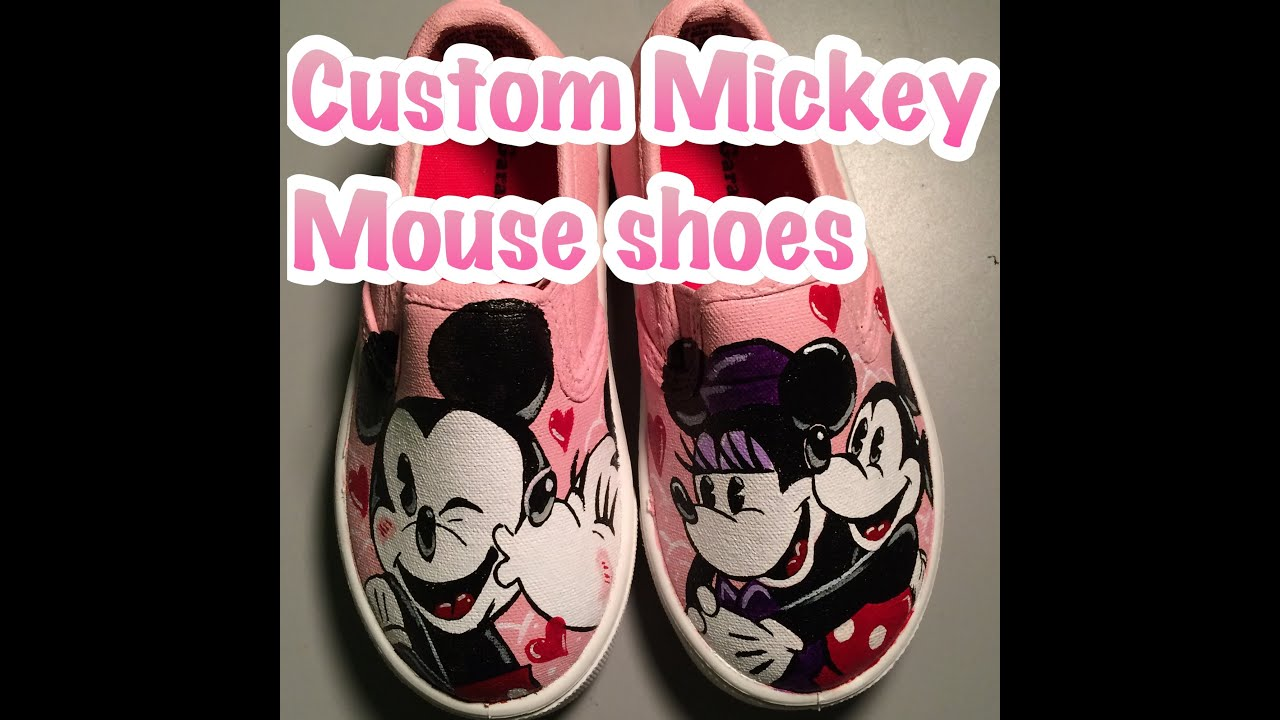 Custom Mickey And Minnie Mouse Shoes