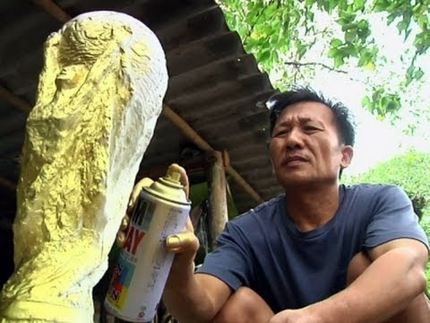 Craftsman Makes Replica Of Gold World Cup Trophy