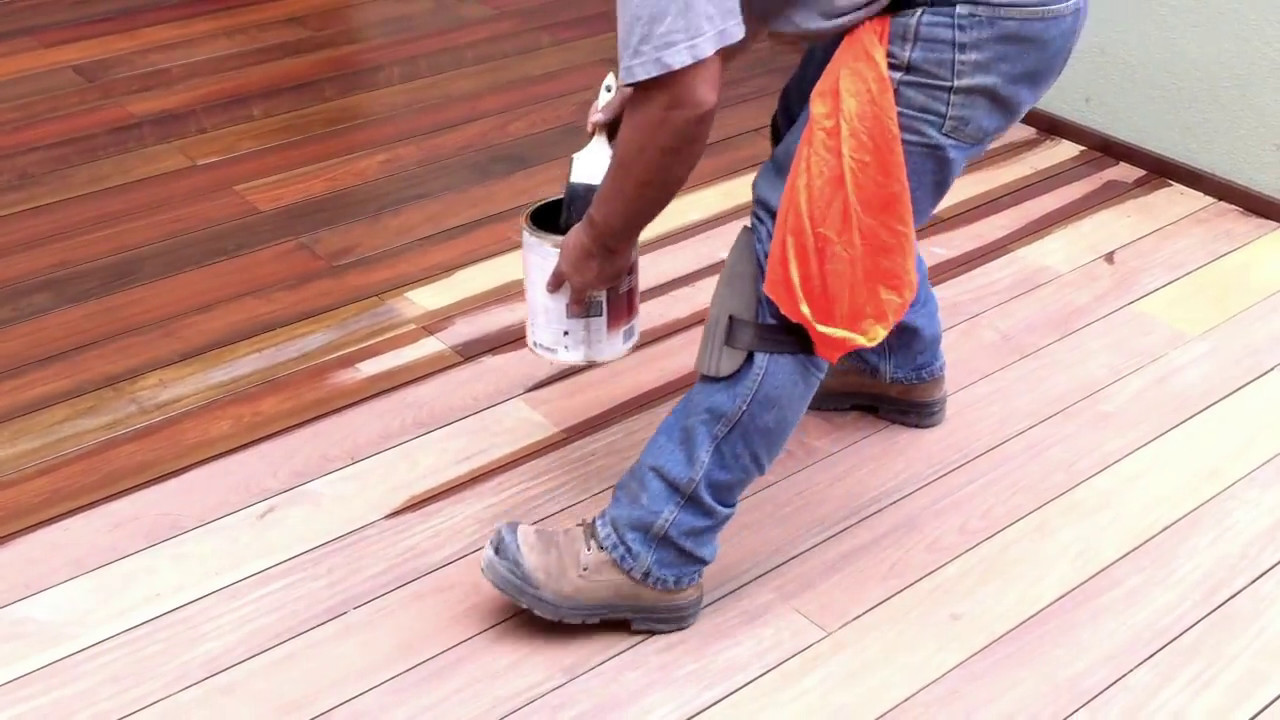 How To Apply Ipe Oil Or Exo Oil On An Ipe Decking From