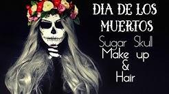 HALLOWEEN Dia de los muertos - Sugar Skull Makeup with wig /Mexikanischer Totenkopf