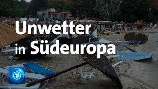 Sechs Touristen sterben durch Unwetter in Südeuropa