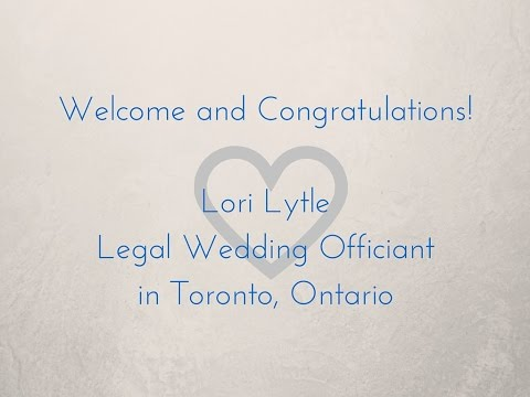 Lori Lytle - Legal Wedding Officiant in Toronto, Ontario
