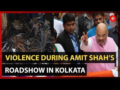 """Amit Shah roadshow violence: """"Govt of gangsters, asks Arun Jaitley; TMC rally today"""
