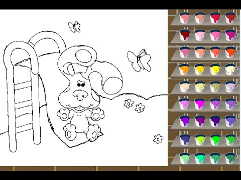 Blue 39 s Clues Coloring Games YouTube