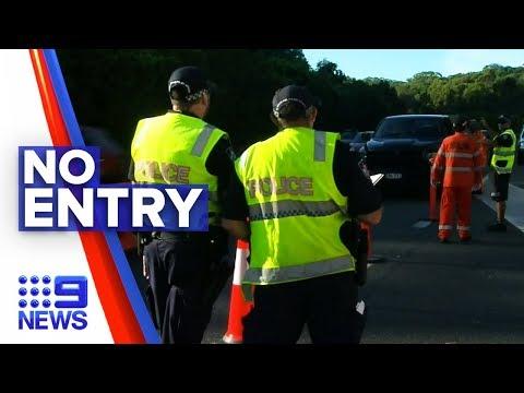 Coronavirus: Manned Checkpoints Between NSW And QLD Border | Nine News Australia