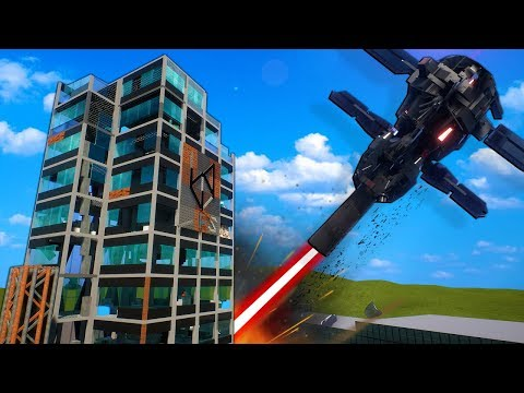 Orbital Cannon Destroys Lego Tower in Brick Rigs Gameplay! |