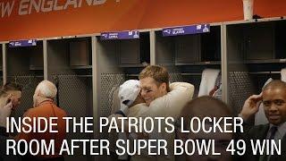 Inside the Patriots Locker Room After Super Bowl 49 Win