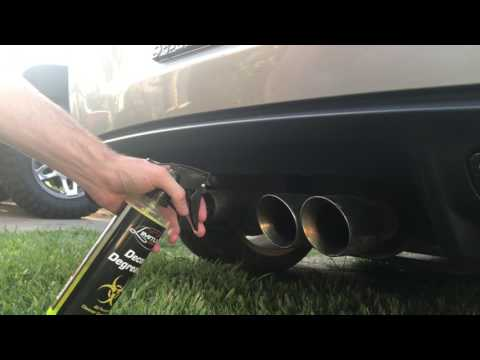 How to clean the exhaust tips on a c6 corvette