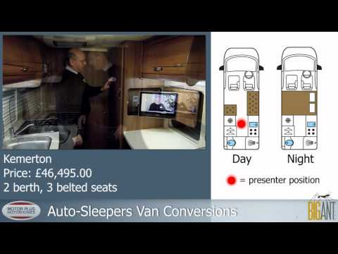 Auto-Sleepers Kemerton van conversion. Tim from Motor Plus Motorhomes gives a guided tour.
