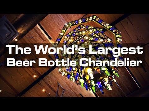 Building the World's Largest Beer Bottle Chandelier