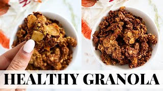 PUMPKIN SPICE GRANOLA: healthy pumpkin recipes