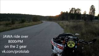 Video JAWA Power! ride over 8000rPM on the 2 gear download MP3, 3GP, MP4, WEBM, AVI, FLV Agustus 2018