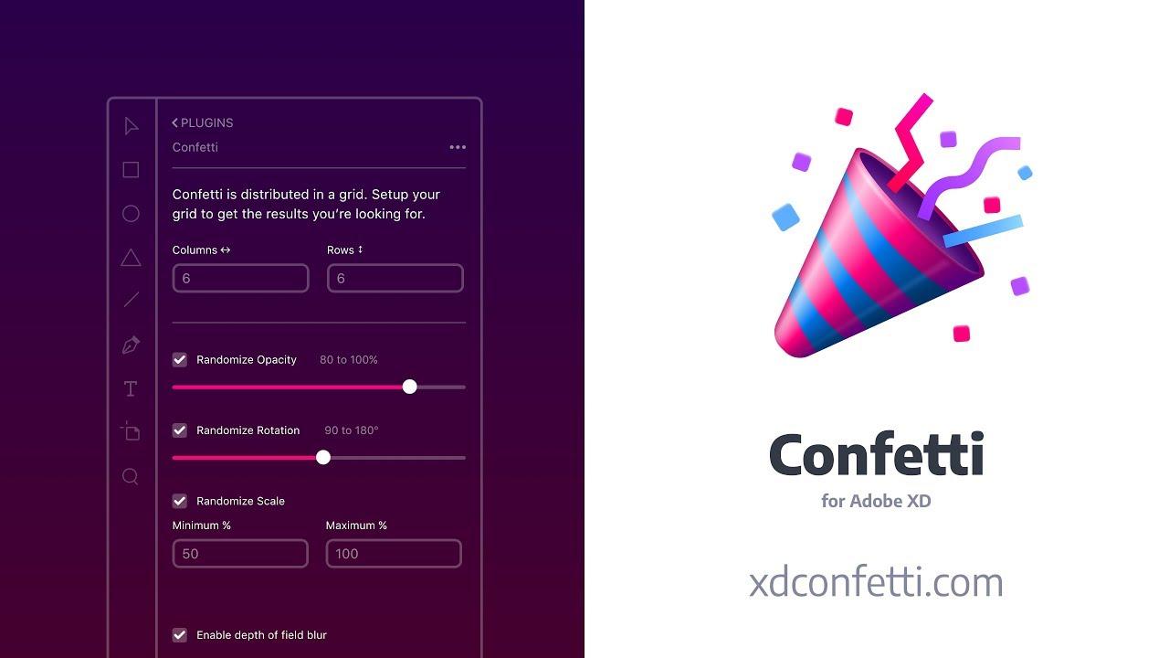 Confetti for Adobe XD
