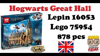 Review Hogwarts Great Hall - Harry Potter Series - Lepin 16052 - Lego 75954
