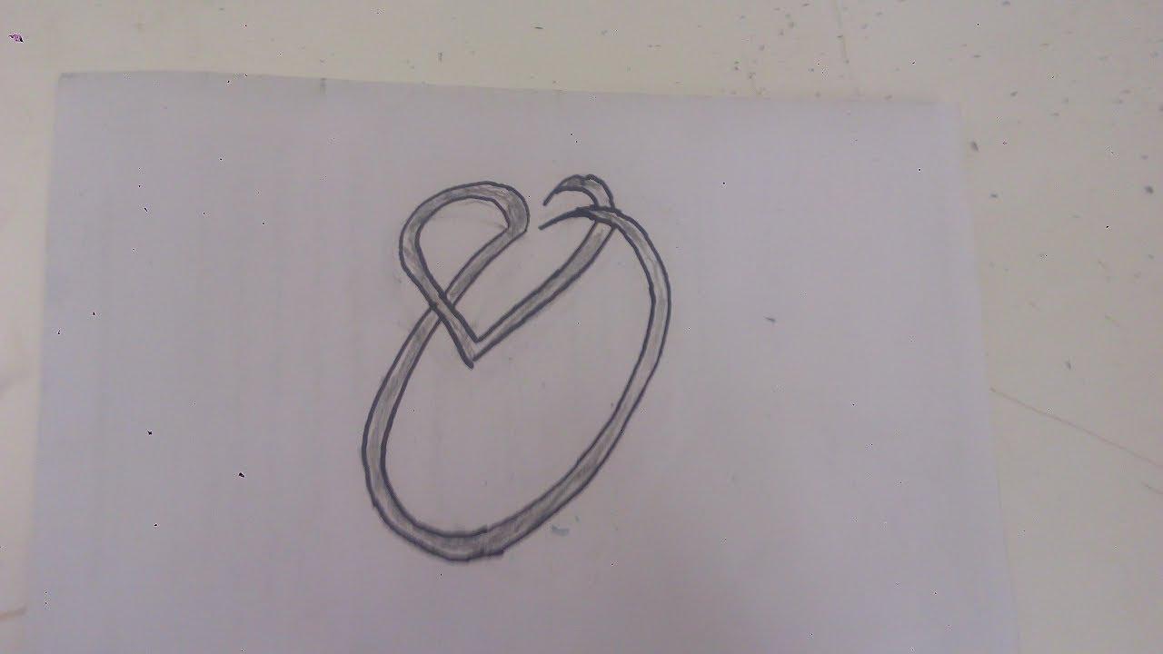 رسم حرف O بداخله قلب جميله وبسيطه وسهله التنفيذ Youtube