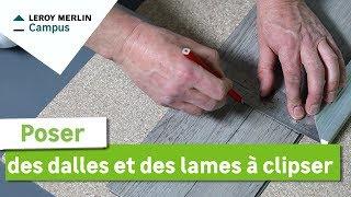 Comment poser des dalles et des lames à clipser ? Leroy Merlin