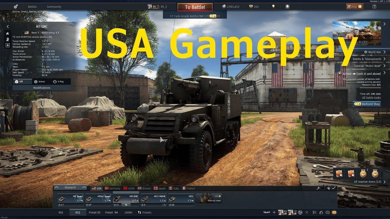 War Thunder USA gameplay - YouTube