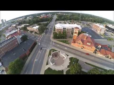 Downtown Battle Creek Michigan from above