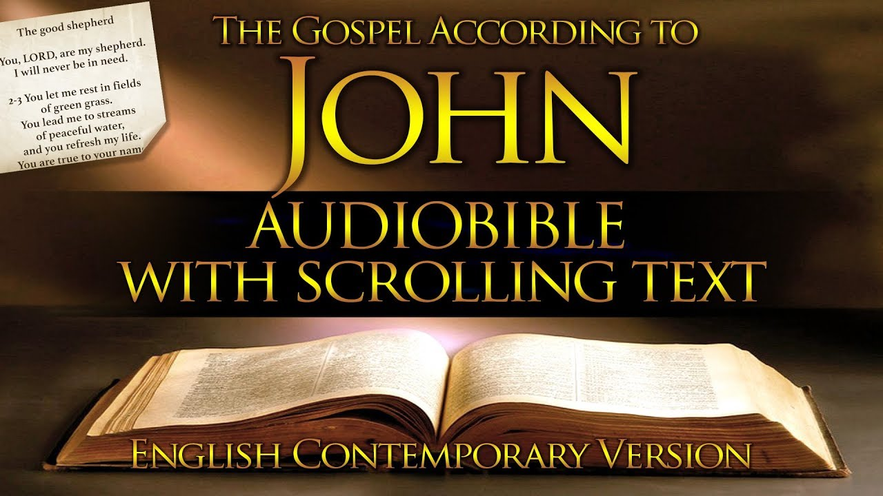 The Book of John | Contemporary English | Holy Bible (FULL) With Text
