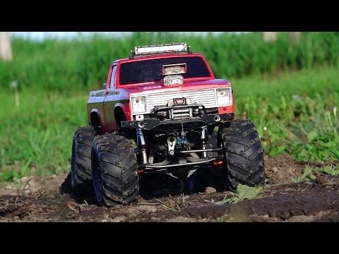 RC ADVENTURES - Modern Backyard MUD Bog - Three 4x4 Scale Trail Trucks in a Mud Bath - 1/10 scale