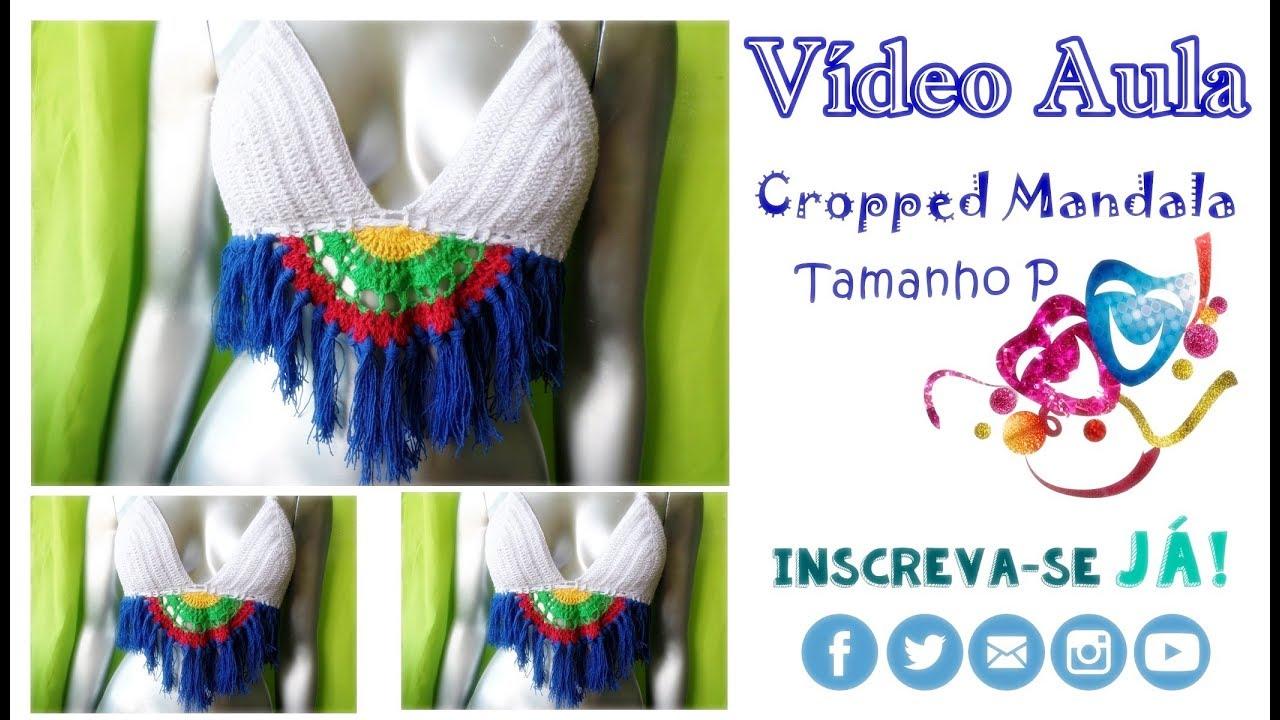 d9401bcb4 Cropped Mandala   Carnaval   Tamanho P- Katiane Crochê Fio a Fio ...