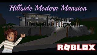 Hillside Modern Mansion w / Tiki Bar! - Bloxburg - Roblox