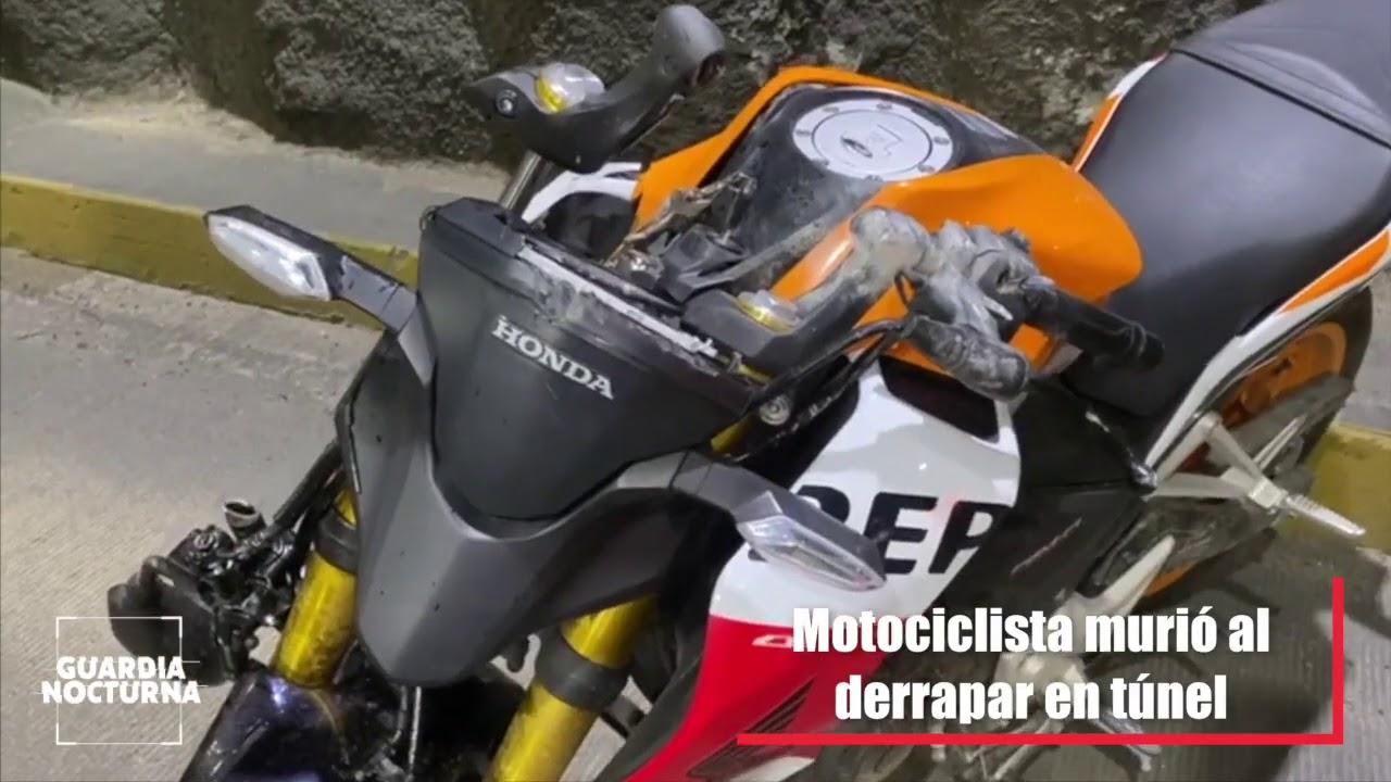 Motociclista murió luego de derrapar en el túnel vehicular de la glorieta Colón
