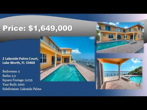 Lakeside Palms Lake Worth Florida Home For Sale
