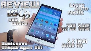 lG G3 Silk White REVIEW 3GB RAM/32GB ROM 5.5