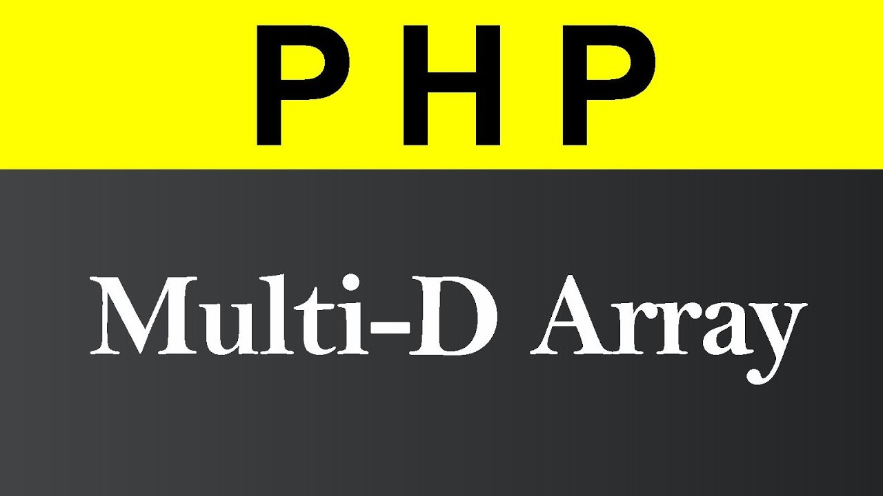Multidimensional Array in PHP (Hindi)