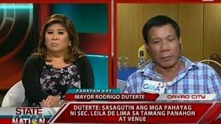 sona panayam kay davao city mayor rodrigo duterte