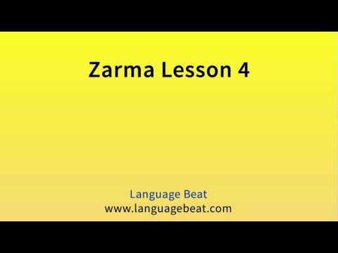 Learn Zarma   :  Lesson 4  -  Zarma  Phrases for Beginners