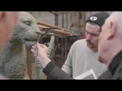 Скульптуры животных на входе в Калининградский зоопарк | скульптор Андрей Следков