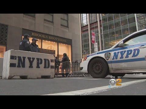 Security Tight Ahead Of Rockefeller Center Christmas Tree Lighting
