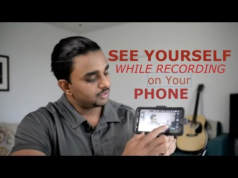 See Yourself While Filming/Recording Youtube Video- How To