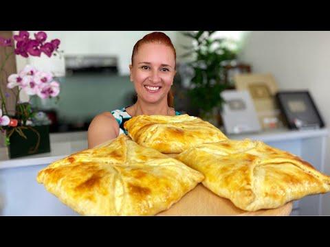 ХАЧАПУРИ-из-быстрого-слоеного-теста-Лепешка-с-сыром-грузинская-кухня-Люда-Изи-Кук-cheese-flatbread