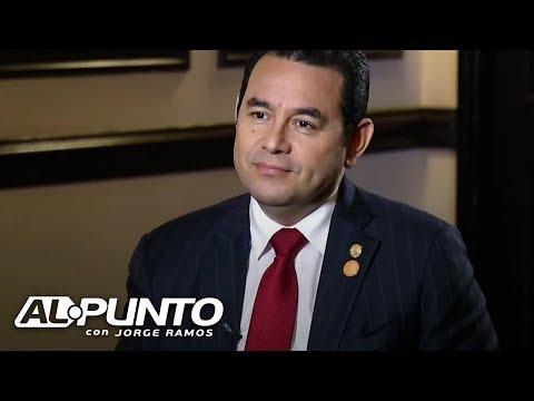 En exclusiva: presidente de Guatemala Jimmy Morales dice si considera la corrupción algo 'normal'
