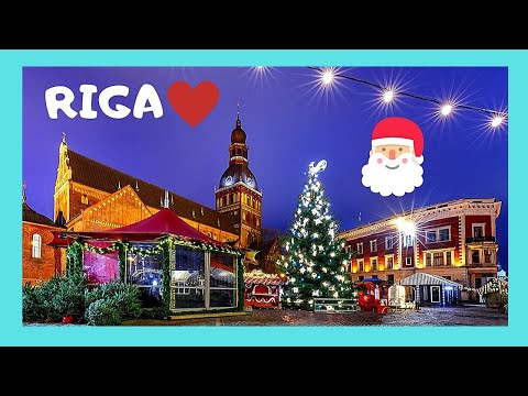 LATVIA: The wonderful CHRISTMAS MARKETS at NIGHT in RIGA