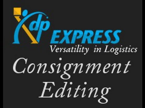 Consignment Editing (XDP)
