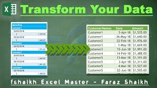 Baixar Transform Your Data from Single Column To Table Structure POWER QUERY