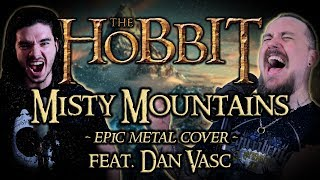The Hobbit - Misty Mountains (Epic Metal Cover by Skar feat. Dan Vasc)