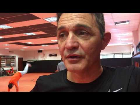 John Smith after Oklahoma State wrestling practice 10/29