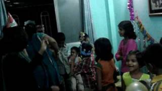 Soham Gupte 6th Birthday (14-Dec-2009) - Evening Party - Song & Dance