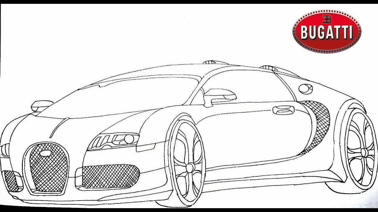 How To Draw A Bugatti Veyron Step By Step Youtube