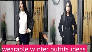 Wearable winter outfits ideas/…