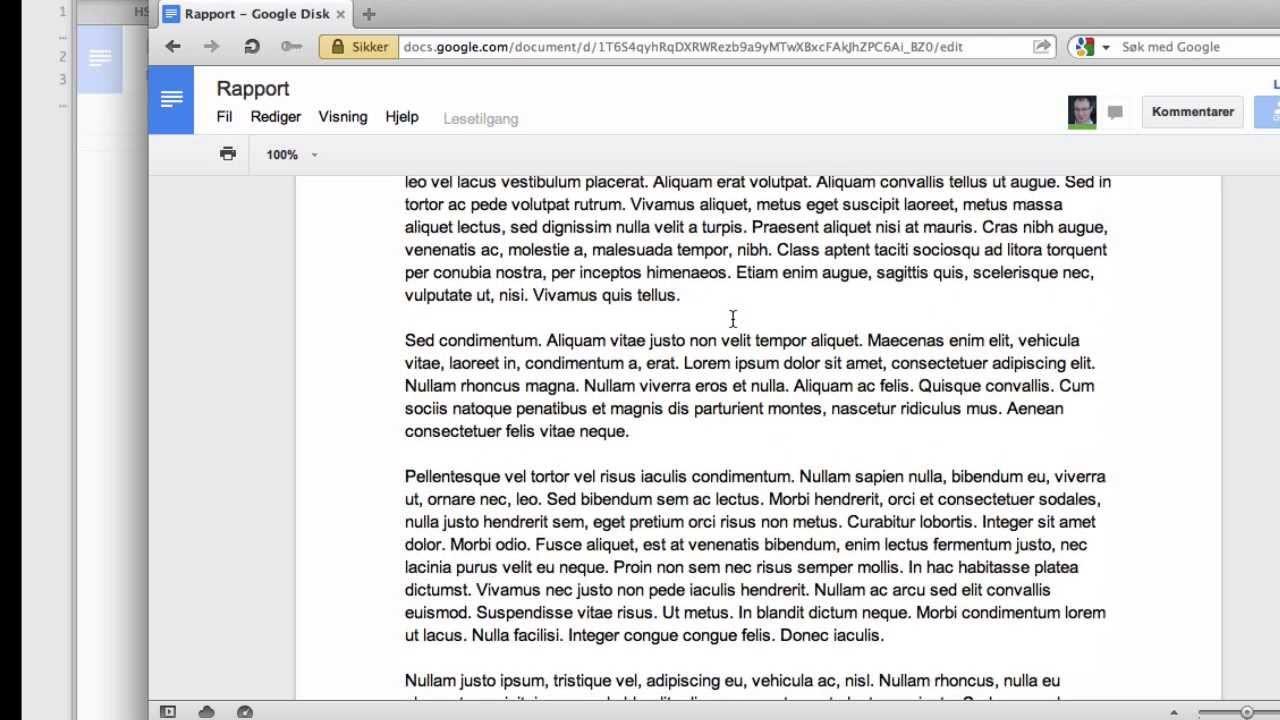 Hvordan dele et Google Docs-dokument på riktig måte