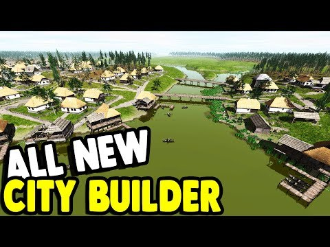 LARGE CITY TRADE POST CONSTRUCTION | Ostriv Gameplay