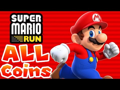 Super Mario Run - ALL PINK, PURPLE, & BLACK COINS IN ALL LEVELS! [iPad and iOS Gameplay]